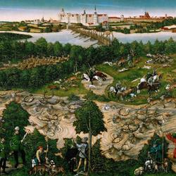 Пазл онлайн: Охота на оленей курфюрста Джона Фридриха Саксонского
