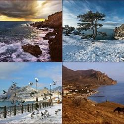 Пазл онлайн: Зимний Крым