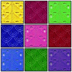 Пазл онлайн: Узоры вязания