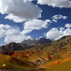 Пазл онлайн: Поселок в горах