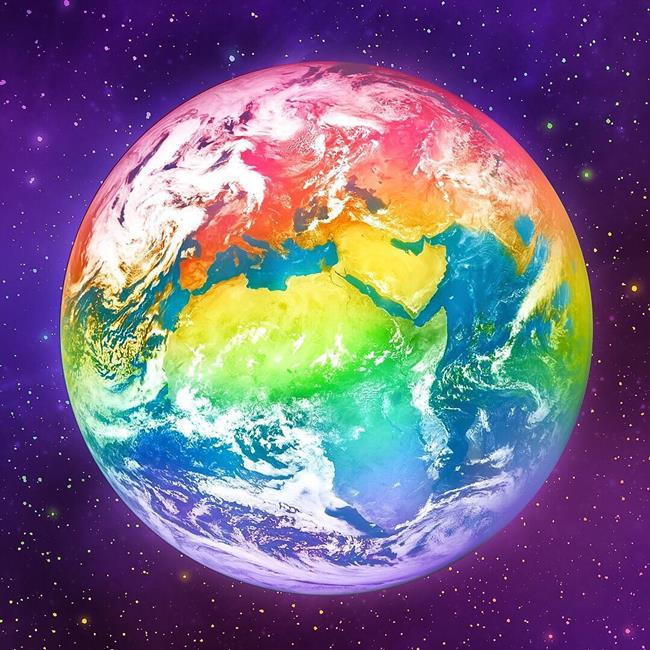 оно рисунок планеты земля из космоса этом сообщила