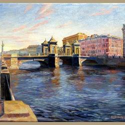Пазл онлайн: Мост Ломоносова. Санкт-Петербург