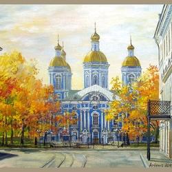 Пазл онлайн: Никольский собор. Санкт-Петербург