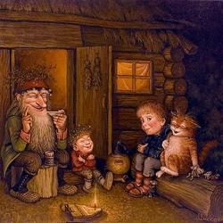 Пазл онлайн: Дедушкины сказки