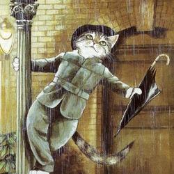 Пазл онлайн: Влюбленный кот