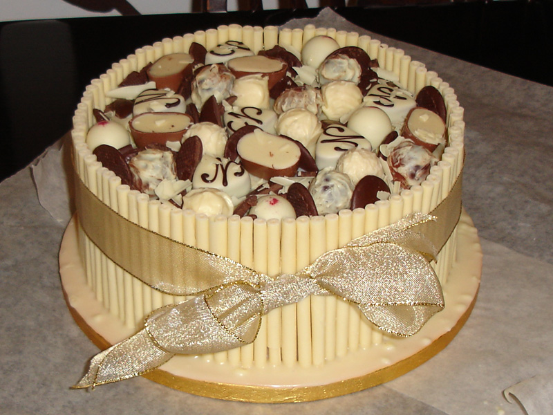 Торт с днём рождения своими руками