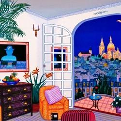 Пазл онлайн: Комната с балконом