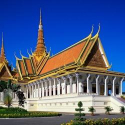 Пазл онлайн: Королевский дворец в Пномпене. Камбоджи