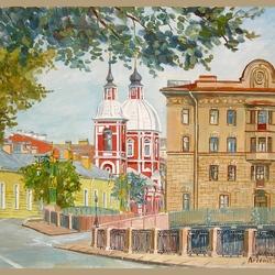 Пазл онлайн: Пантелеймоновская церковь. Санкт-Петербург