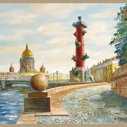 Пазл онлайн: Ростральная колонна. Санкт-Петербург