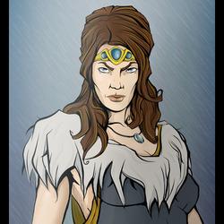 Пазл онлайн: Королева-Волчица