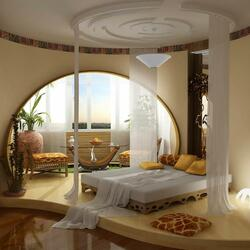 Пазл онлайн: Спальня в марокканском стиле