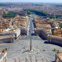 Пазл онлайн: Центральная площадь Ватикана