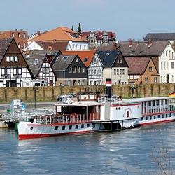 Пазл онлайн: Колёсный пароход