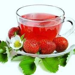 Пазл онлайн: Клубничный чай