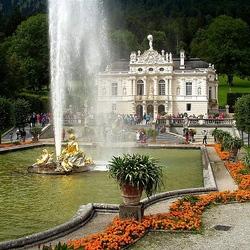 Пазл онлайн: Дворец в Линдерхофе. Германия