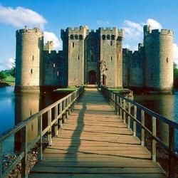 Пазл онлайн: Замок Бодиам. Великобритания