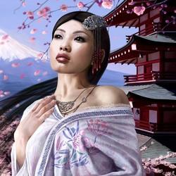 Пазл онлайн: Японские мотивы