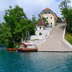 Пазл онлайн: Город Блед. Словения