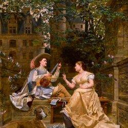 Пазл онлайн: Урок музыки