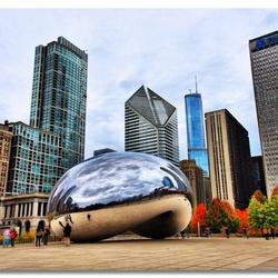 Пазл онлайн: Облачные ворота в центре Чикаго