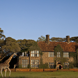 Пазл онлайн: Поместье Giraffe Manor в Кении