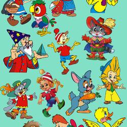 Пазл онлайн: Герои любимых мультфильмов