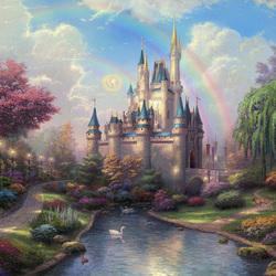 Пазл онлайн: Новый день в замке Золушки