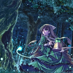 Пазл онлайн: Девочка в лесу
