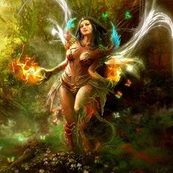 Пазл онлайн: Огненная нимфа