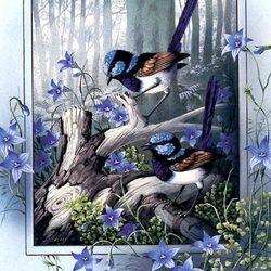 Пазл онлайн: Великолепный Синий-крапивник или Фея-крапивник