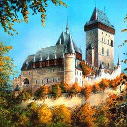 Пазл онлайн: Замок Карлштейн, Чехия