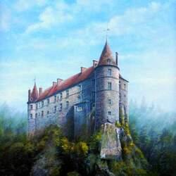 Пазл онлайн: Замок Полиньяк, Франция