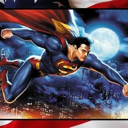 Пазл онлайн: Супермен