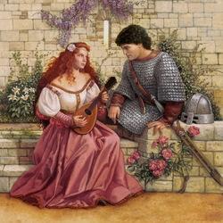 Пазл онлайн: Гвиневра и Ланселот