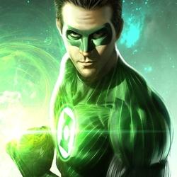 Пазл онлайн: Зеленый фонарь