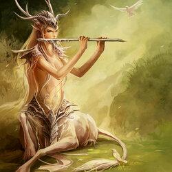 Пазл онлайн: Лесной музыкант