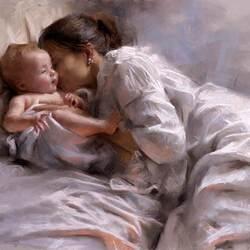 Пазл онлайн: Материнская нежность
