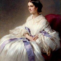 Пазл онлайн: Портрет женщины в белом