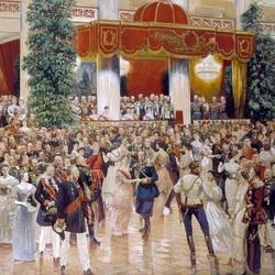 Пазл онлайн: Бал в петербуржском дворянском собрании. 1913 г