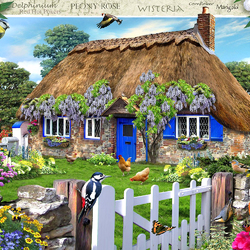 Пазл онлайн: Сельский домик