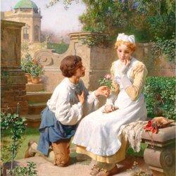 Пазл онлайн: Романтическое признание