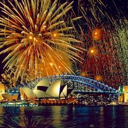 Пазл онлайн: Салют в Сиднее. Австралия