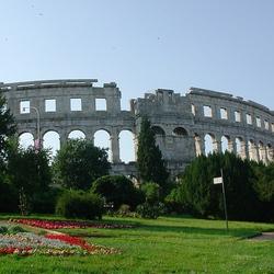 Пазл онлайн: Древнеримский амфитеатр в городе Пула. Хорватия