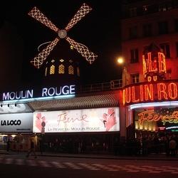 Пазл онлайн: Мулен-Руж. Париж. Франция