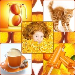 Пазл онлайн: Оранжевый