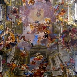 Пазл онлайн: Купольная фреска церкви Сант-Иньяцио