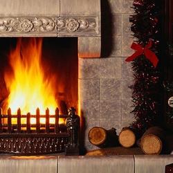 Пазл онлайн: Рождество у камина