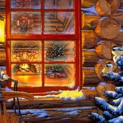 Пазл онлайн: Свет рождественского окна