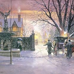 Пазл онлайн: Лондонская зима